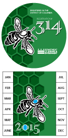 Bee Hive Registration Stickers Sample