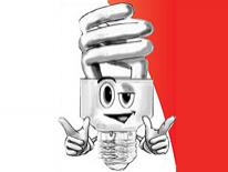 Light Bulb Character Illustration - Curly