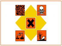 Hazardous waste symbol for lead