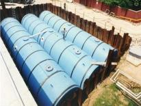 Photo of storage tanks being stored underground