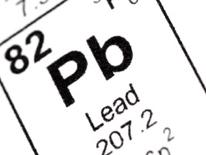 Illustration of element symbol for Lead